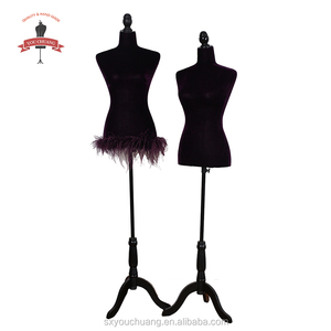 New Hot Design fabric wrapped female torso mannequin fibre glass female curvy mannequin torso