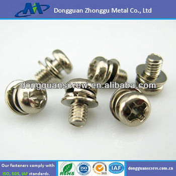 Cross Recessed Small Pan Head Screw,Single Coil Spring Lock Washer ...