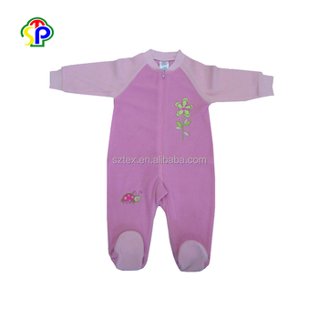 c12d50a62356 100% Polyester Micro soft Polar fleece short baby clothes romper suit