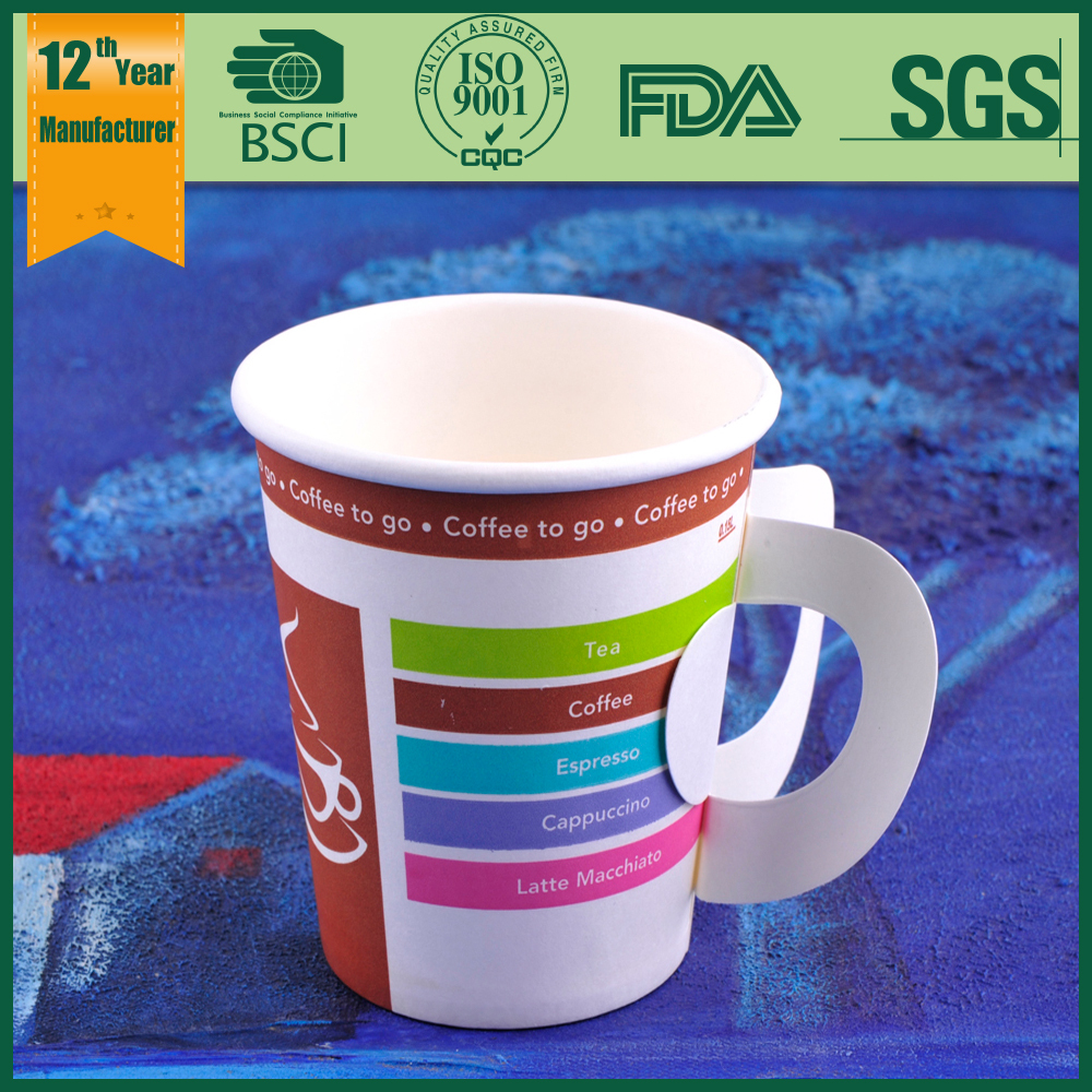 Special Handle Coffee Cup Disposable Paper Cup Tea Cups