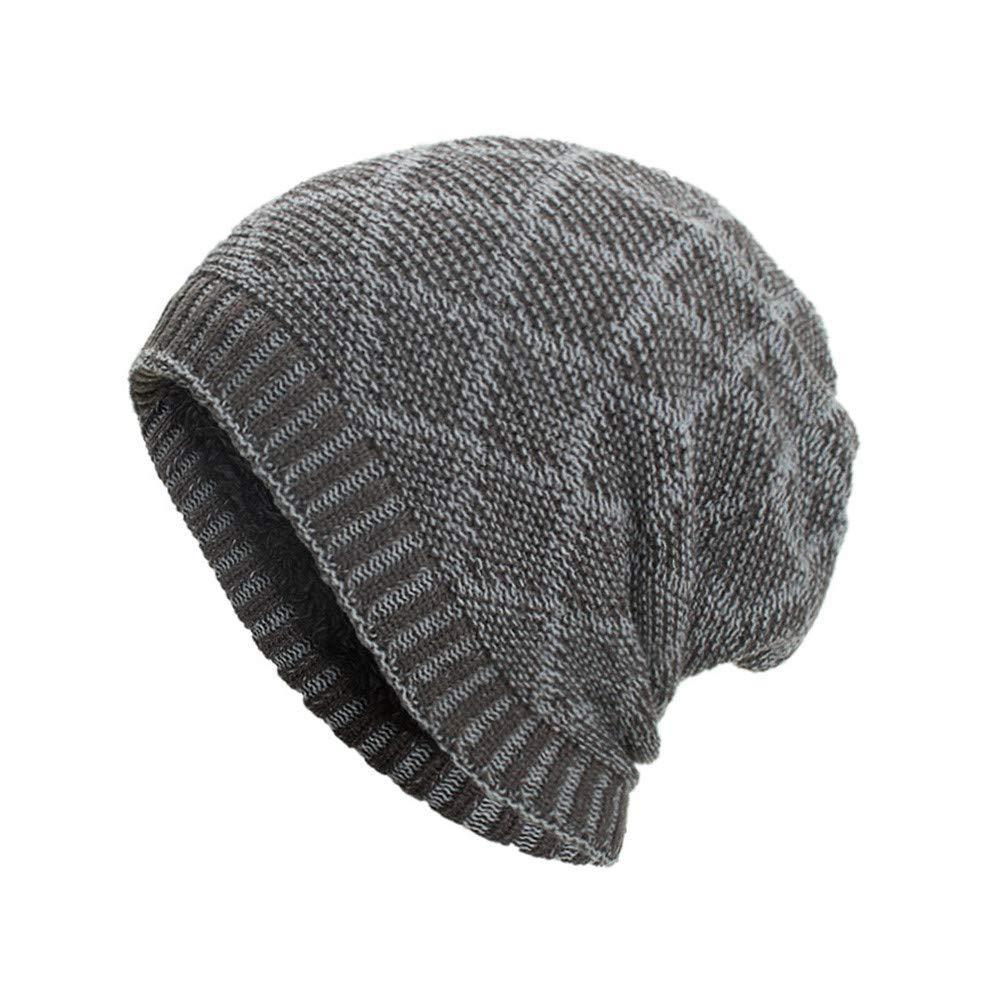 0706a57b86b19 Get Quotations · Clearance DEATU Hat Women Men Warm Baggy Weave Crochet  Unisex Winter Knit Ski Beanie Skull Caps