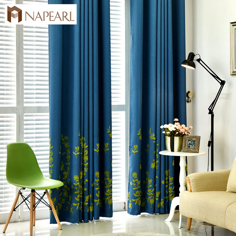 NAPEARL 2020 fancy light design-blocco verde ricamato modello tende