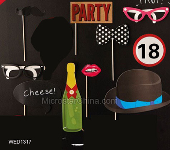 10pcs New Design 18th Birthday Photo Booth Templates For Bars