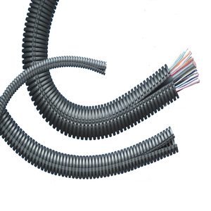 Flexible plastic corrugated tube convoluted tubes split loom tubing