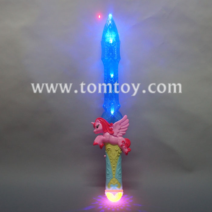 2018 cute LED Light up Unicorn Sword with Sound