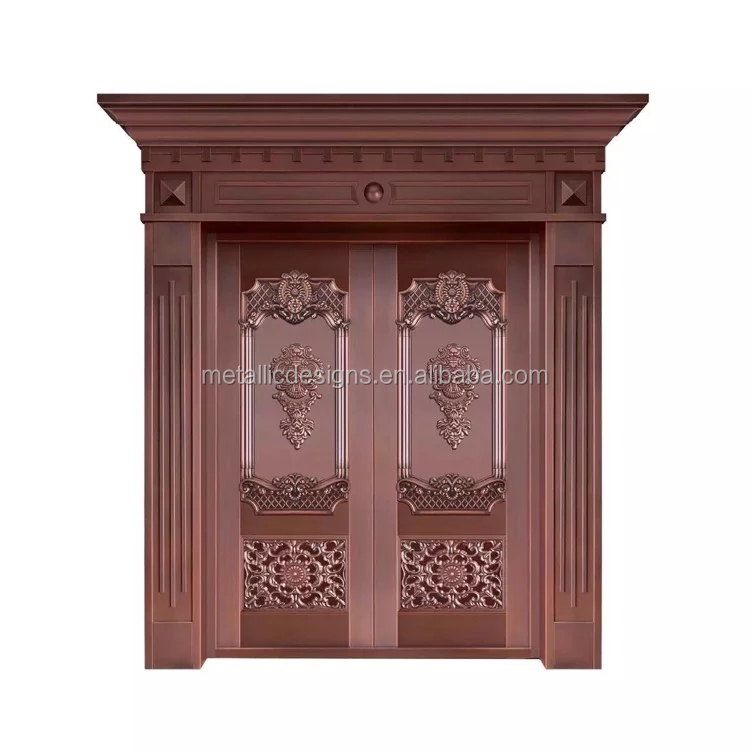 high quality design insulated antique copper exterior double door