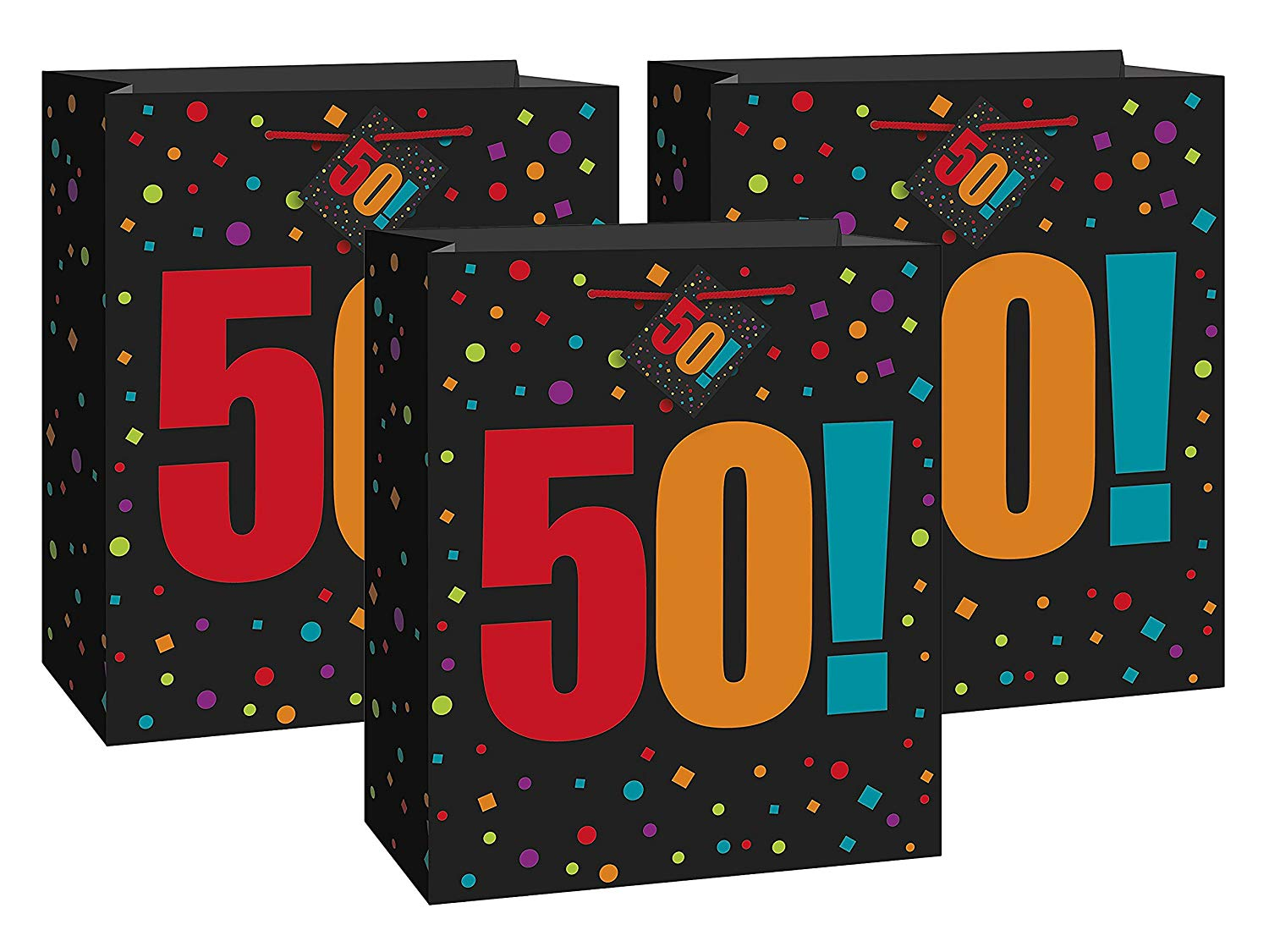 Get Quotations Set Of 3 Unique Industries Large Birthday Cheer 50th Gift Bag Bundled By Maven Gifts