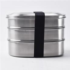 BPA бесплатная еда класс 800 мл прямоугольник из металла нержавеющая сталь 304 Обед Bento Box с крышкой для детей еда Закуски хранения