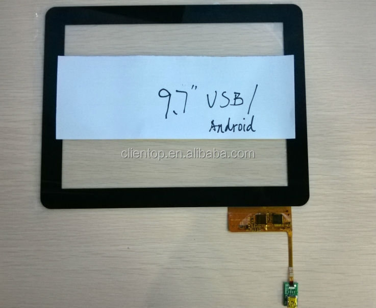 9.7 inch Capacitive multi touch panel with USB port support 10 points touch