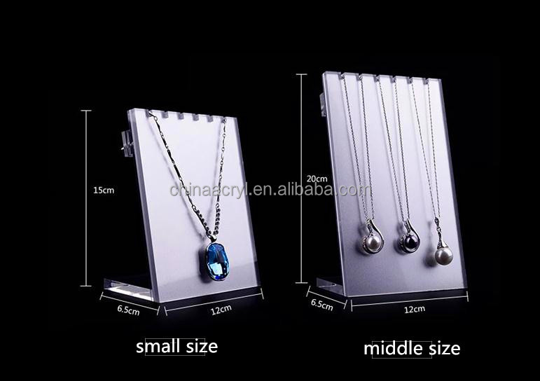 whole sale factory customized acrylic jewelry display set
