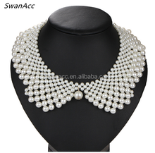 Women Neck Accessories Handmade simulated Pearl Collar
