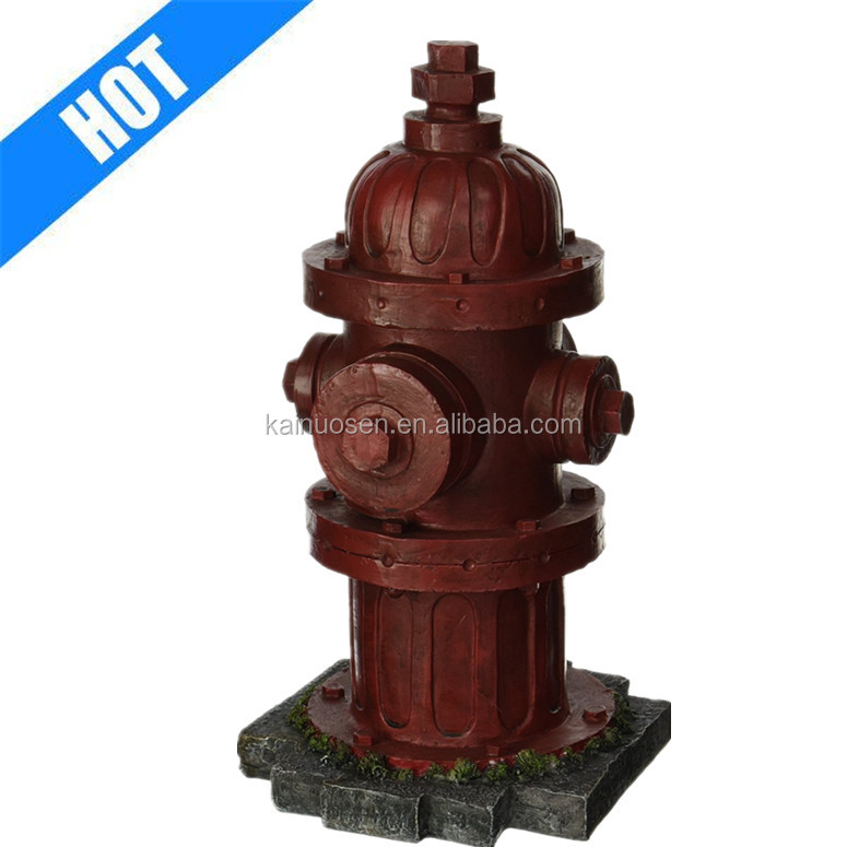 Resin Statue Fire Hydrant Indoor Outdoor Garden Statue Dog Training