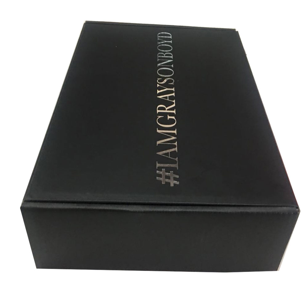 Custom design full black color paper box for products <strong>packing</strong>