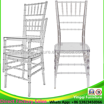 Wholese Plastic Crystal Clear Wedding Chiavari Chair