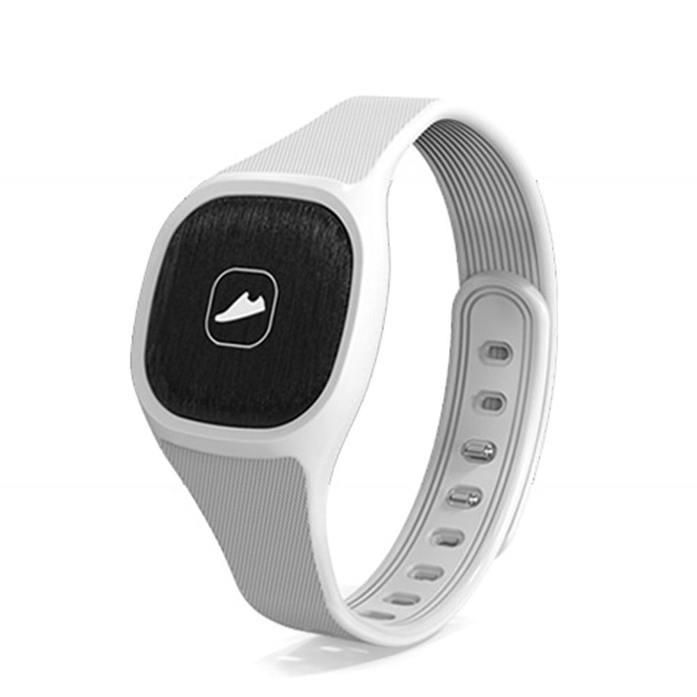 W8 Smart Watch Bluetooth Notification Bracelet Sport Bracelet Watch stylish smart bracelet pedometer health sleep monitoring Anti-lost Smart Bracelet for Android ISO (White)