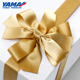 YAMA factory customized party wedding festival grosgrain/satin gift box adjustable luxury ribbon bows
