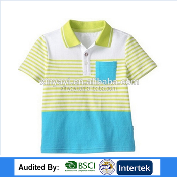 d847197e4 cut sew children polo shirt china factory Cotton Striped Kids Polo Shirts  Wholesale