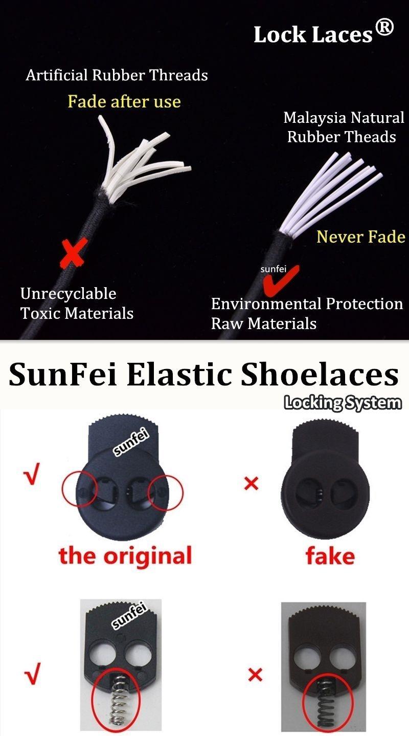Sistem Penguncian Pengikat Tidak Pernah Mengikat Tali Sepatu Elastis Dengan Lock Laces Lari Reflektif Berjalan Cepat Kunci