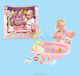 12 inch pee doll baby doll set with bath accessories