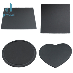 Stone Dinner Fancy Paper Food Plate Heart Shape Eco-friendly Natural Slate Tableware