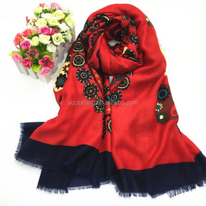 colored design vietnam shawl scarf wholesale