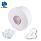 Raw Material Jumbo Roll Virgin Fluff Wood Pulp for Diapers and Sanitary napkins Making