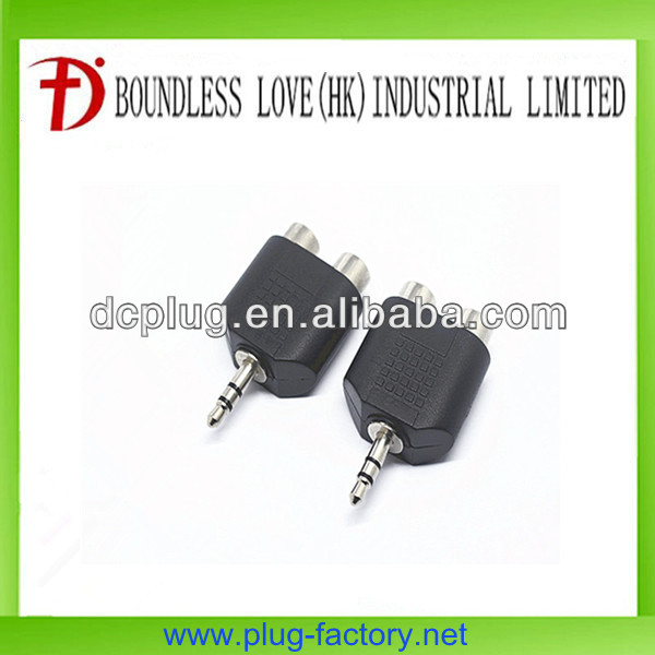 Male to female car audio speaker connectors with 3.5mm plug