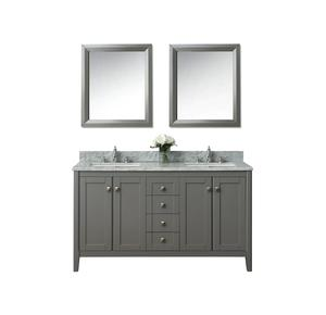 2018 China supplier hotel bathroom mirror vanity cabinet with marble top