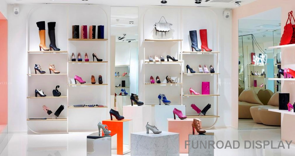 Shoes Shop Interior Design Used Wooden Display Cabinet - Buy Shoes ...