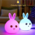 Portable silicone LED night light, animal 3d night light lamp,kids night light