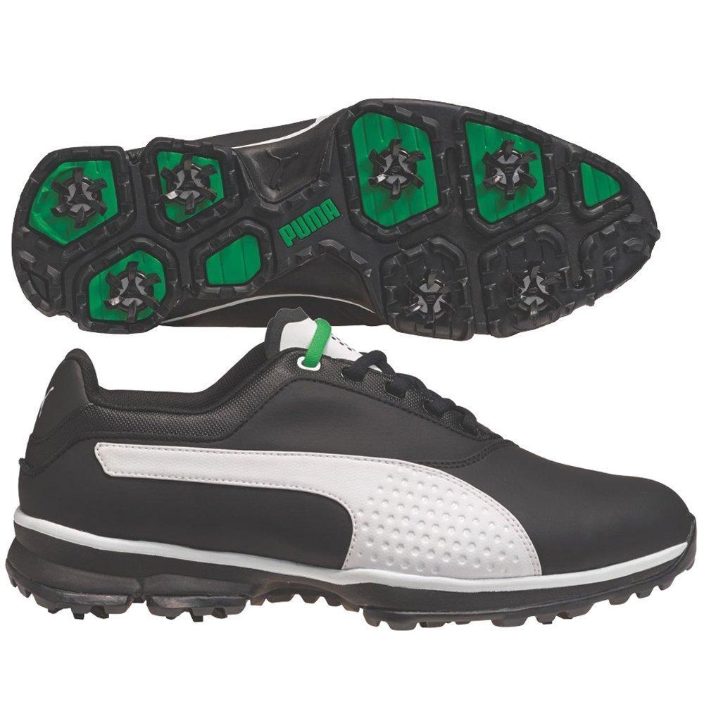 62f4a8456dc591 Puma Mens Titan Lite Golf Shoes Black White Wide 9