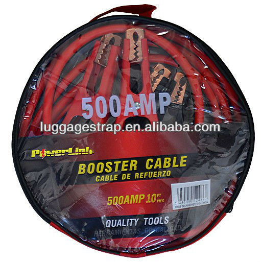 Car or Truck Jumper Cables 8 Feet Auto Jump Start Battery Booster 500 AMP