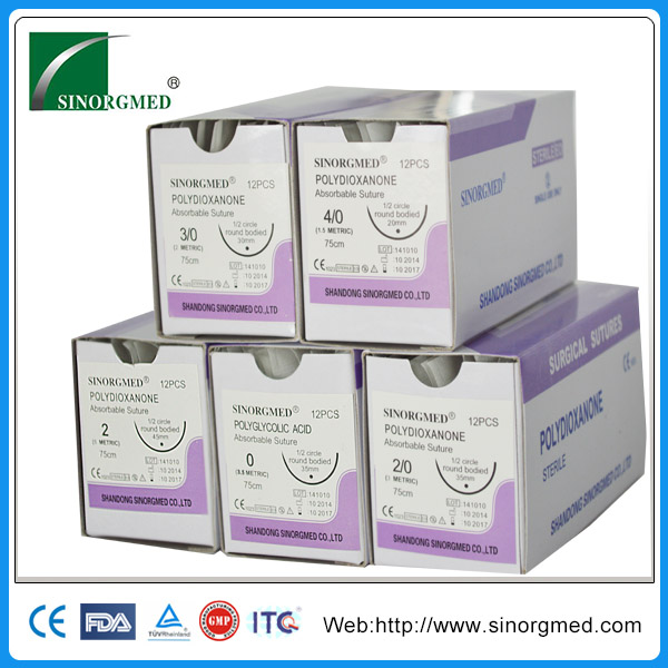 Disposable Absorbable sterile suture polydioxanone surgical suture
