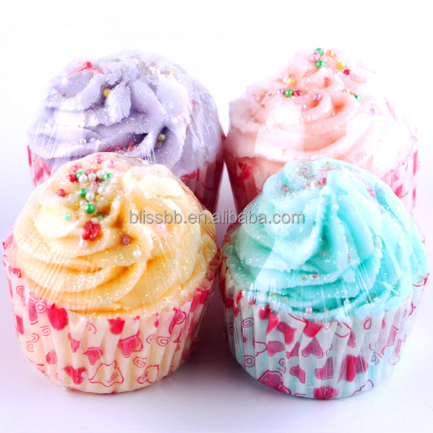 Uae Lovely Butter Cup Cake Bath Bomb Gift Sets Therapy Bath Bombs