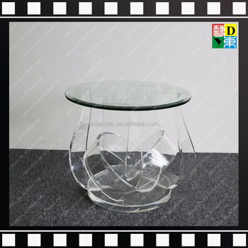 246679bb55db Modern Small Acrylic Office Side Table Round Acrylic Coffee Table ...