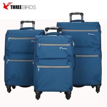 69a65fbe494 Threebirds 4 wheel trolly bags easy trip suitcase travel house luggage