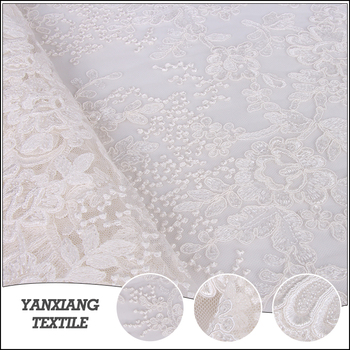 African Wedding Dress Lace Polyester Bridal Fabric