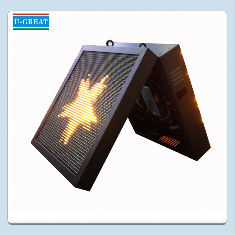 Mobile led digital signage panel outdoor