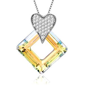 S139-30357 Square Link Crystals from Swarovski+necklace xuping fina joyeria women al por mayor china collares finos de bisuteria