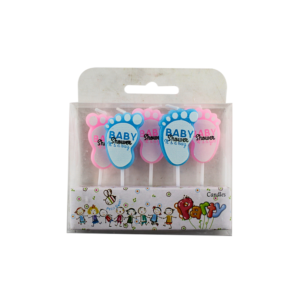 Cute Baby feett birthday cake candles for party
