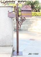 Foshan JHC-11022 Retro post mounted mailbox/cast aluminum mailbox parts/cast iron mailbox