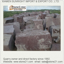 red granite block, granite block,mountain red granite block