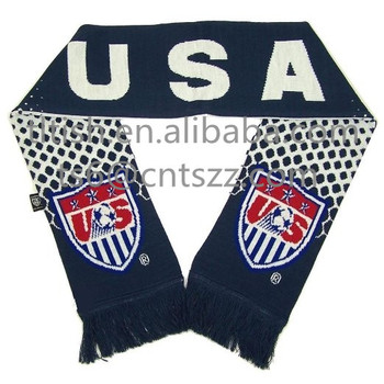 Best Selling Popular Usa Football Scarf Team Knitting Pattern Buy