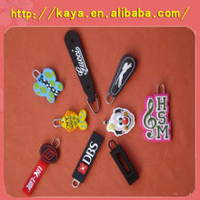 Custom 3d soft plastic fancy zipper pullers