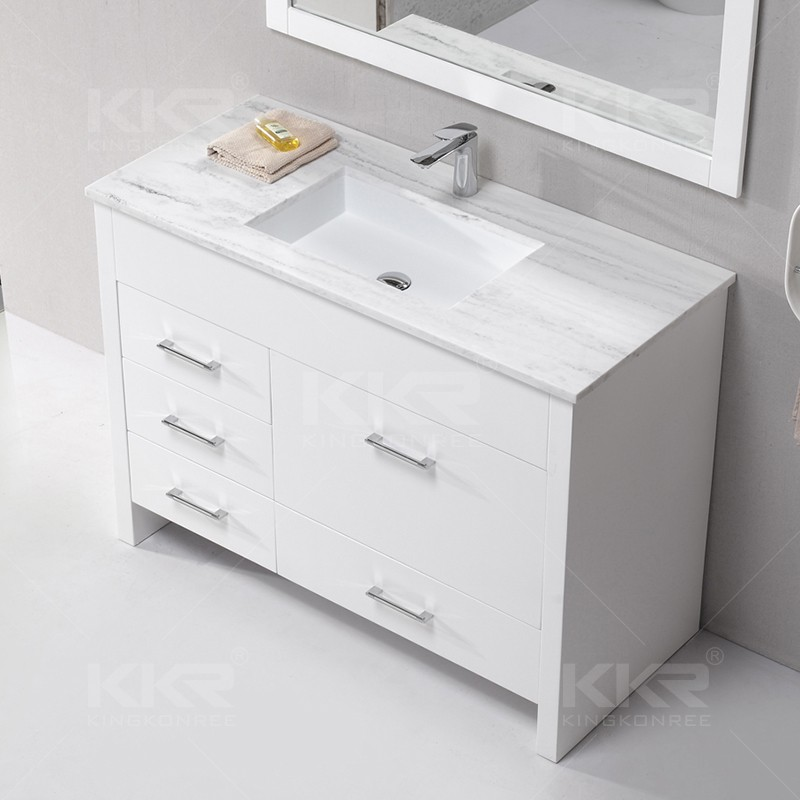 Modern Design Solid Surface Dining Room Washbasin Cabinet Wash Basin