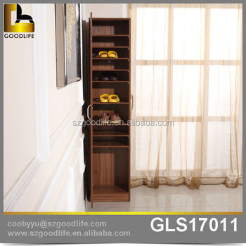 MDF Panel Tall Wooden Boot Rack, Wooden Boots Storage Cabinet