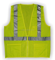 class 2 lime hi viz safety vest mesh fabric with ANSI certificate