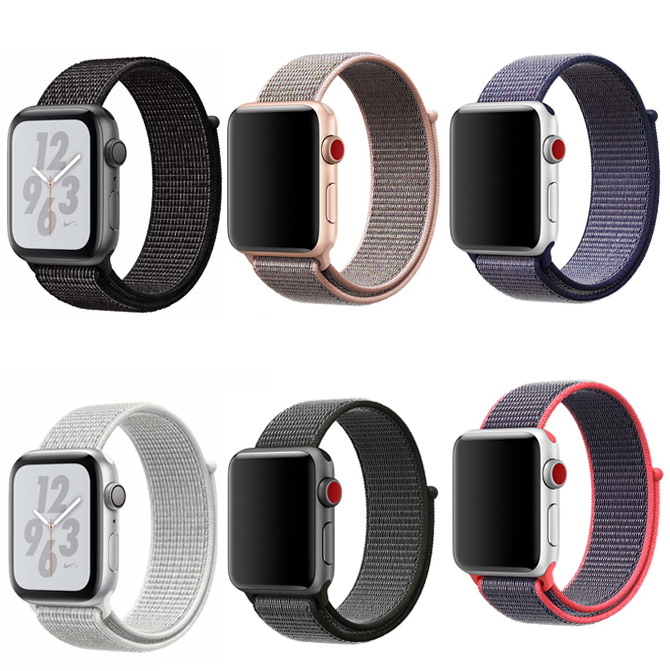For Apple Watch Sport Loop Nylon Band 42mm 38mm Soft Waterproof Strap Woven Classic Stripe Adjustable Apple Watch Band фото