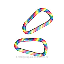 Accetp OEM Logo Accept Paypal Custom Colorful Rainbow Aluminum Carabiner Clip