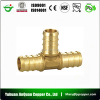 12 High Quality Free Samples cUPC NSF approved Lead Free Brass Tee Pipe Fitting